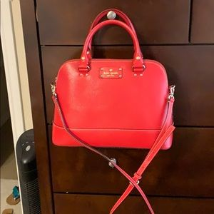 Kate Spade red satchel. Never used.